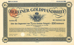 Das Berliner Pfandbrief-Amt (1927 200) -  historic stocks - old certificates Cities and States