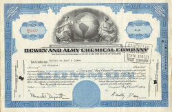 Dow Chemical Company -  historic stocks - old certificates Oil and Chemicals