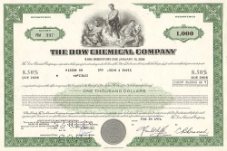 Dow Corning Corporation -  historic stocks - old certificates Oil and Chemicals
