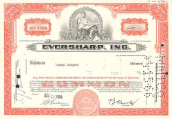Eversharp, Inc. -  Sonstige