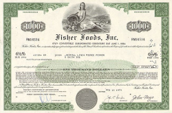 General Mills, Inc. -  historic stocks - old certificates Food and Stimulants