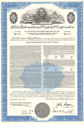 Ford International Capital Corporation -  historic stocks - old certificates Automobiles