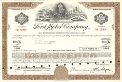 Ford Motor Company -  historic stocks - old certificates Automobiles