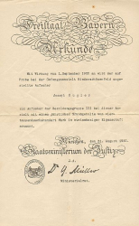 Freistaat Bayern Ernennungsurkunde  -  historic documents