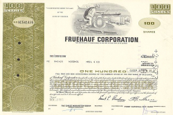 Fruehauf Corporation -  historic stocks - old certificates Automobiles