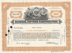 Hanover Insurance Company -  historic stocks - old certificates Banks and Insurance