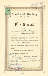 Gewerkschaft Consolidirte Wenceslaus Grube -  historic stocks - old certificates Mining