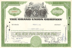 Grand Union Company (alte Vignette) -  historic stocks - old certificates Food and Stimulants