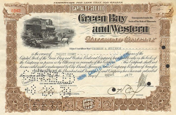 Green Bay and Western Railroad Company -  Eisenbahn