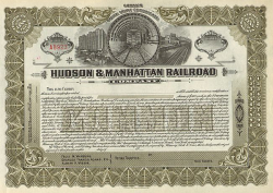 Hudson and Manhattan Railroad Company  historic stocks - old certificates