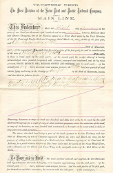 Indenture Saint Paul and Pacific Railroad Company (Autograph Rice)