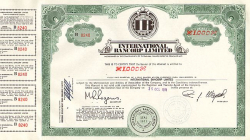International Bancorp Limited historischer Optionsschein - alte Optionsscheine