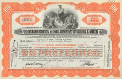Harnischfeger Corporation -  historic stocks - old certificates Engineering