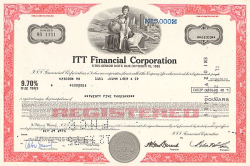 ITT Financial Corporation -  historic stocks - old certificates Hotels and Real Estate