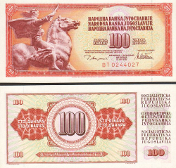 Jugoslawien 100 Dinar 1978 - bill - paper money