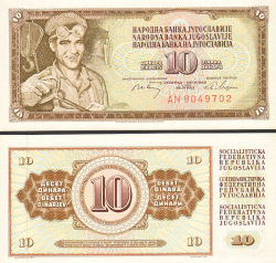 Jugoslawien 10 Dinar 1968 - bill - paper money