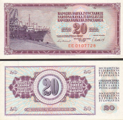 Jugoslawien 20 Dinar 1981 - bill - paper money