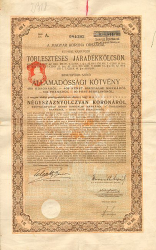 Königreich Ungarn Amortisable Renten-Anleihe -  historic stocks - old certificates Cities and States