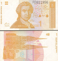 Kroatien 1 Dinar 1991 - bill - paper money