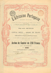L'Africaine Portugaise  historic stocks - old certificates