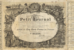 Le Petit Journal -  historic stocks - old certificates Media and Film