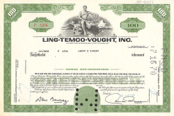 Ling-Temco-Vought, Inc. -  historic stocks - old certificates Trading and Transportation