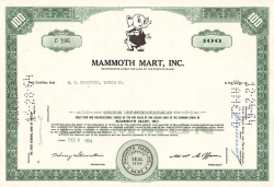 Mammoth Mart, Inc. -  historic stocks - old certificates Trading and Transportation