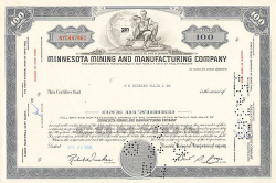 Minnesota Mining and Manufacturing Company (3M) -  historic stocks - old certificates Others