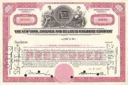 New York, Chicago and St. Louis Railroad Company (Nickel Plate Road) -  historic stocks - old certificates Railroads