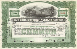 New York, Ontario and Western Railway (100 Shares) -  Eisenbahn