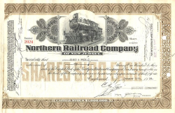 Northern Railroad Company of New Jersey historic stocks - old certificates