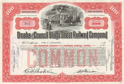 Omaha & Council Bluffs Street Railway Company -  Eisenbahn