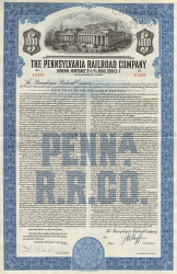 Pennsylvania Railroad Company (1945 1000.-Dollar) -  Eisenbahn