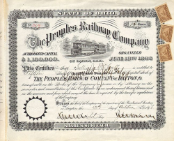 Peoples Railway Company of Dayton, Ohio -  Eisenbahn