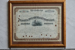 Peoria, Decatur and Evansville Railway Company gerahmtes Wertpapier