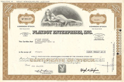 Playboy Enterprises, Inc. -  historic stocks - old certificates Media and Film