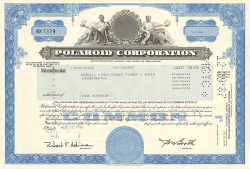 Polaroid Corporation  historic stocks - old certificates