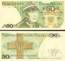 Polen 50 Zloty 1988 - bill - paper money