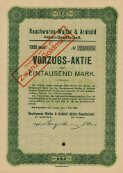 Rauchwaren Walter & Arnhold Aktien-Gesellschaft (Vorzug) -  historic stocks - old certificates Others