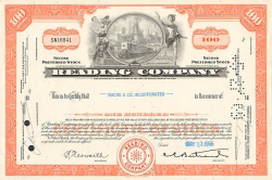Reading Company (100 Shares) -  historic stocks - old certificates Railroads