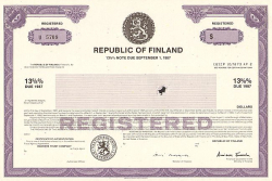 Republic of Finland  historic stocks - old certificates