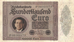 Schröder Reichsbanknote historic stocks - old certificates
