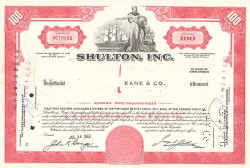Shulton, Inc. -  historic stocks - old certificates Others
