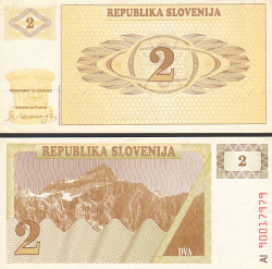 Slowenien 2 Tolar - bill - paper money