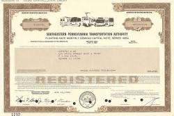 Southeastern Pennsylvania Transportation Authority -  historic stocks - old certificates Railroads