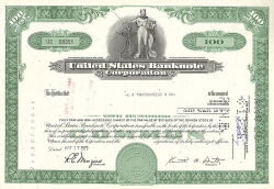 United States Banknote Corporation (100 Shares) -  historic stocks - old certificates Banks and Insurance