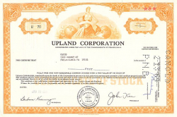 Upland Corporation -  historic stocks - old certificates Others