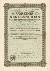 Vorzugs-Rentenschein  historic stocks - old certificates