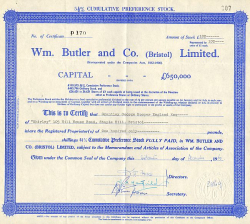 Wm. Butler and Co. (Bristol) Limited